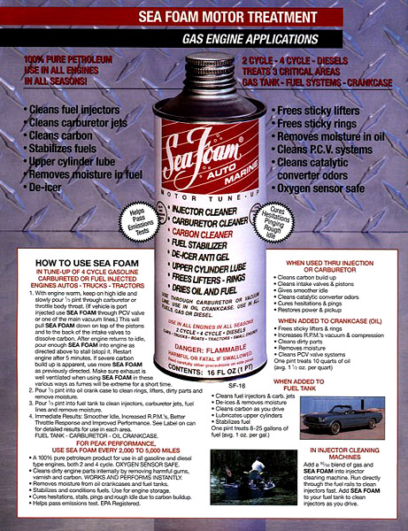 Solving piston slap nasioc for What is seafoam motor treatment